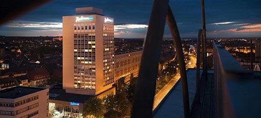 Radisson Blu Hotel Erfurt Außenansicht