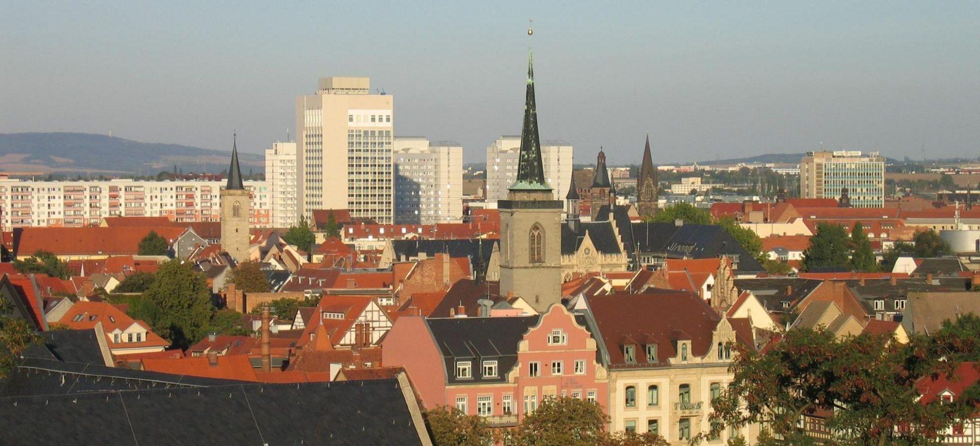 Radisson Blu Hotel Erfurt Blick über die Stadt